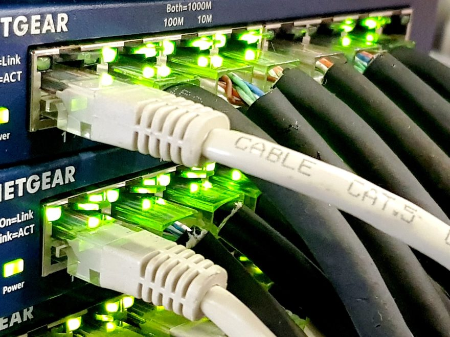 Netwerk switch voor tijdelijk computer netwerk